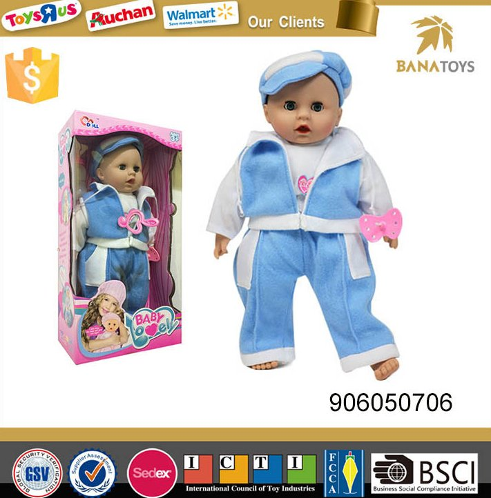Free Shipping 16 inch flashing toy baby doll with music