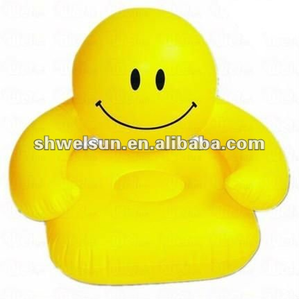 Smile face inflatable sofa