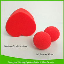 Customized magic props small red foam sponge balls and hearts
