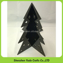 black acrylic outdoor laser cut merry Christmas Tree