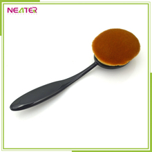 Hot sell facial makeup toothbrush shape oval foundation brush