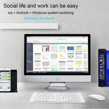 9c4c1db756e Rii Mini K09BT Pocket Size Foldable Wireless Bluetooth Keyboard for iOS/iPad /Android/