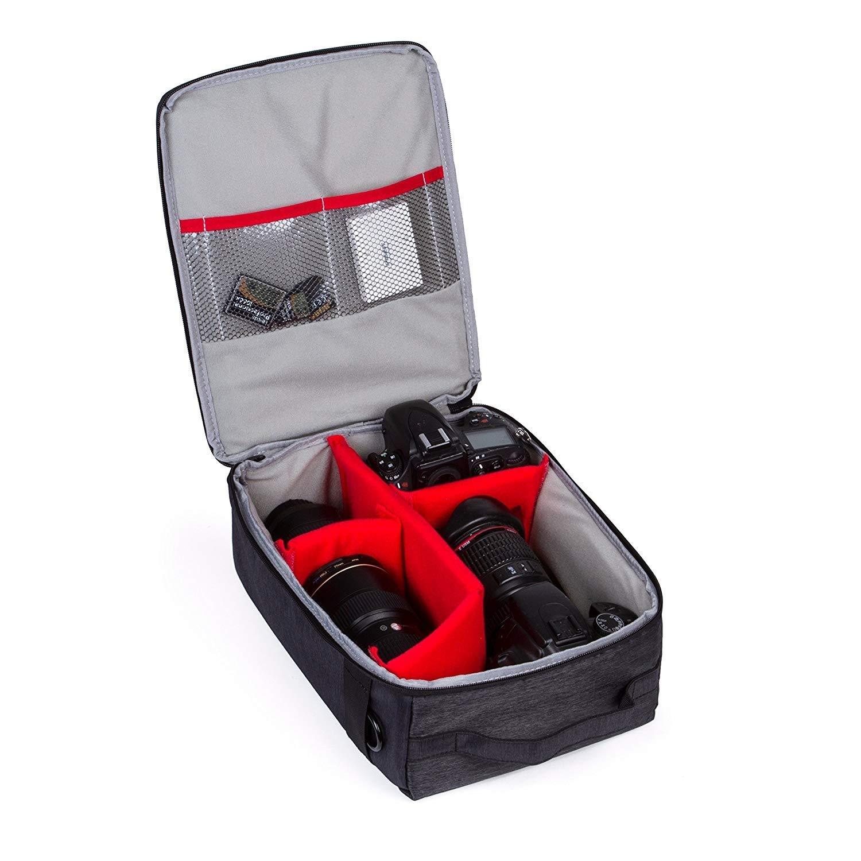 Cuitan Durable Nylon DSLR Camera Bag Sling Shoulder Bag Travelling Messenger Bag for DSLR SLR Cameras Blue Multifunctional Organizer Casual Bag Carry Bag Camera Bag for Women Men Girls Boys