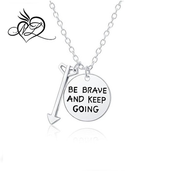 Inspirational Necklace For Women Teen Girls Keep Going Life Quotes