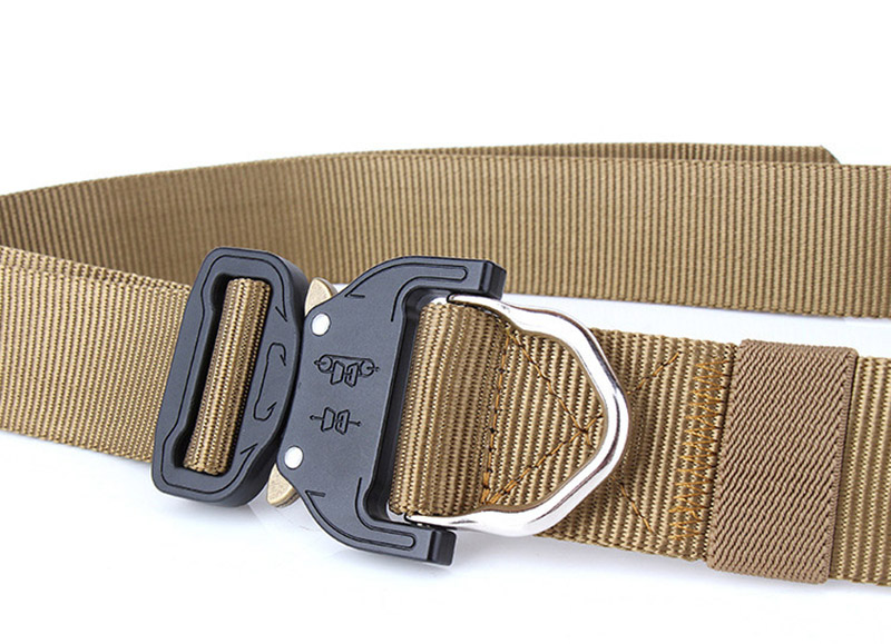 Sports web tactical adjustable military combat custom logo fancy fabric belt