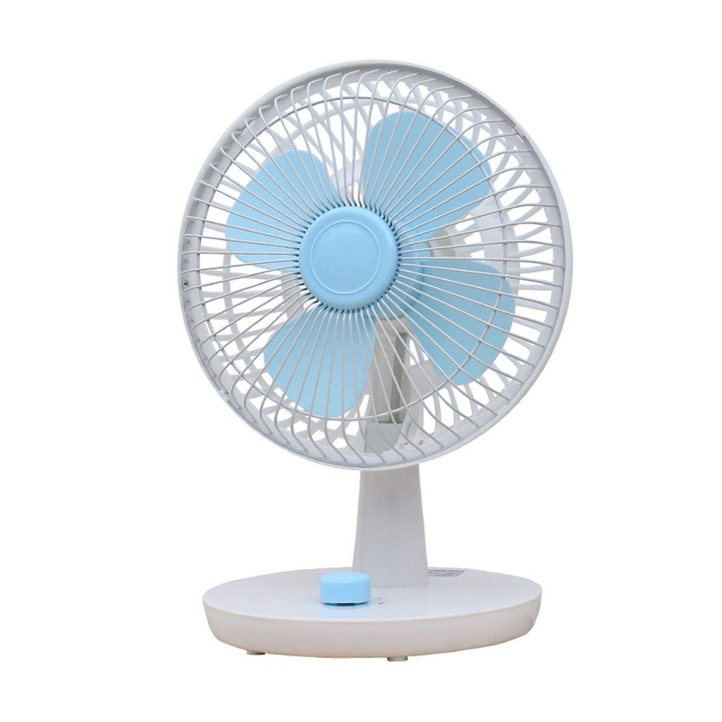 Xiao Hong Home Floor Fans USB fan mini silent fan desktop desktop fan home portable two 60 ° rotating fan (Color : White, Size : 8 inches)