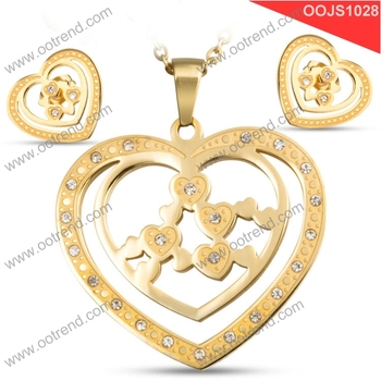 Heart by Heart Cheap 18K gold jewelry set of 2017