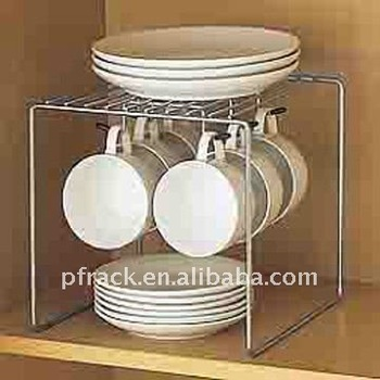 Kitchen coffee cup holder / plate holder PK-05 : plate with cup holder - pezcame.com