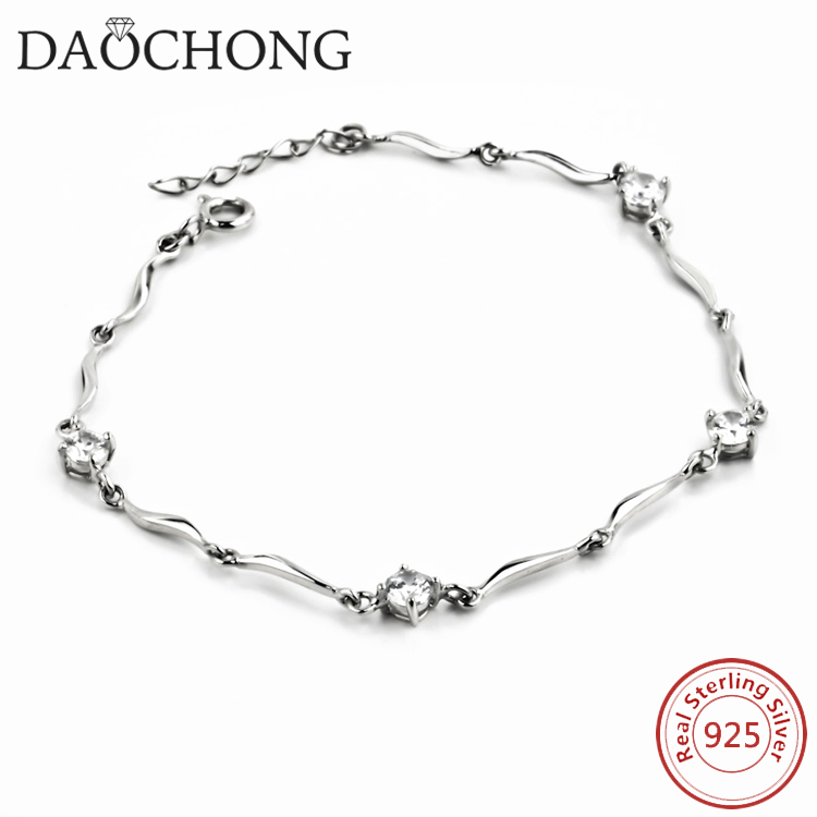 Hot selling new fashion tai jewelry bracelet type 925 sterling silver cubic zircon bracelet