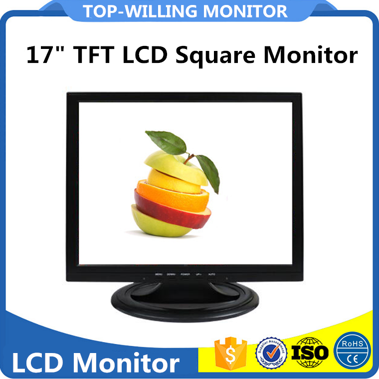 2017 New 17 inch POS LCD Touch Screen Monitor Desktop Touch Monitor With 1280x1024 , DC12V