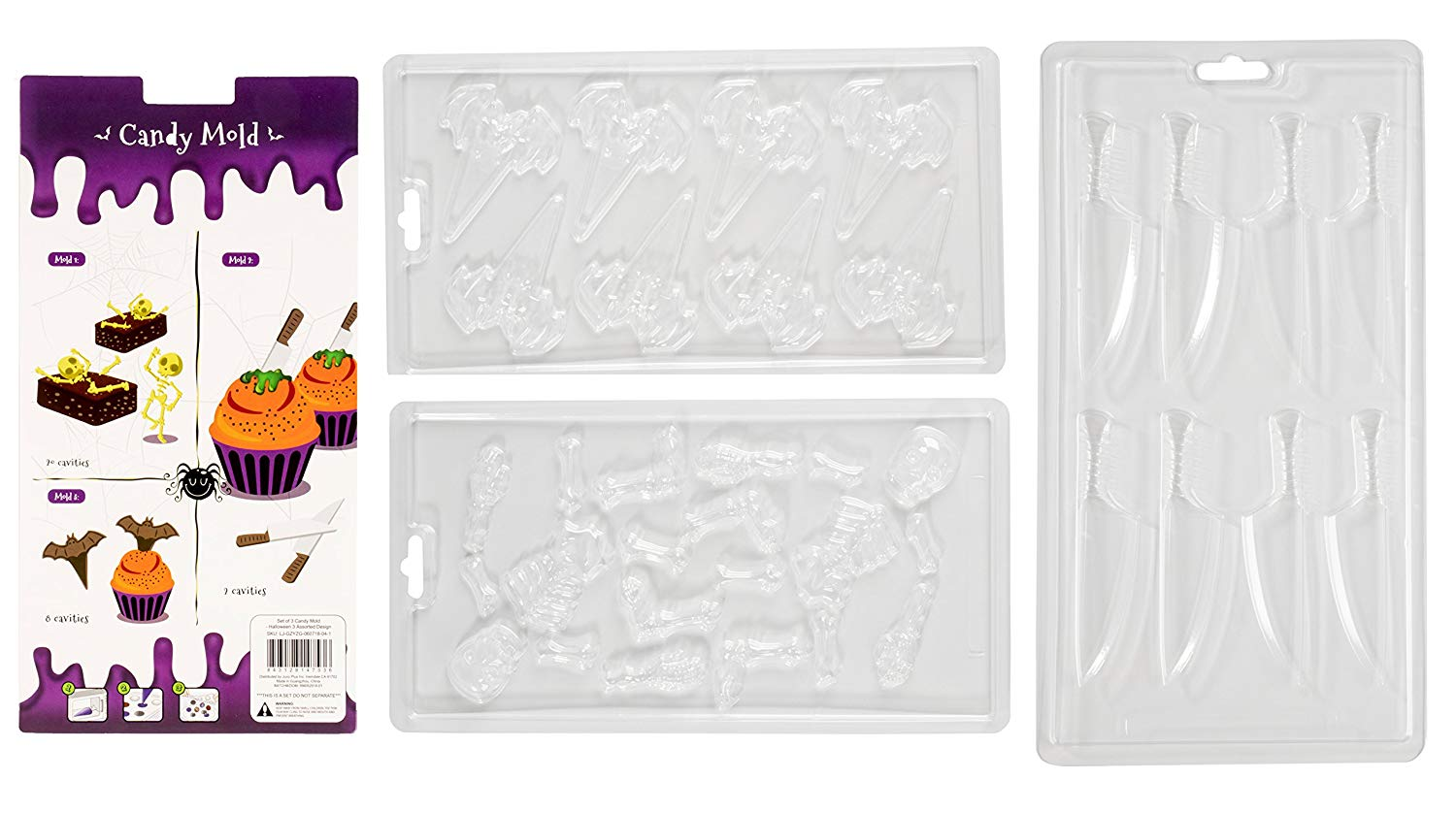 Get Quotations Chocolate Candy Molds 3 Pack Decorating For Parties Holiday Theme