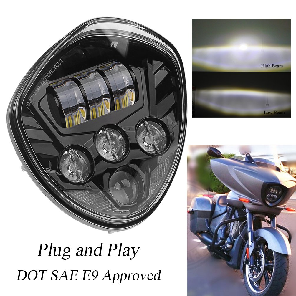 Cheap Victory Motorcycle Find Deals On Line At Plug And Play Quick Fit To High Beam Wiring Harness Proauto 60w Cree Chip Black Headlights Assembly Ip67 Led Headlamp Kit For
