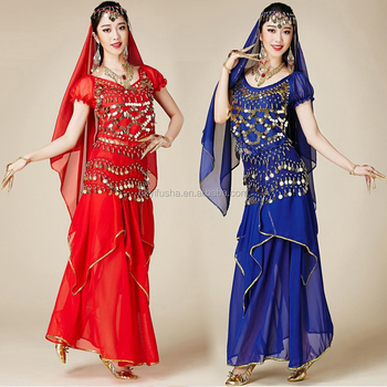 87686ae2ed Professional cheap belly dance 4 pieces ladies sexy Indian Bollywood dance  costumes