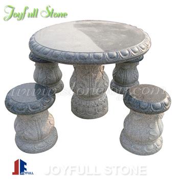 Jardín Tallado Muebles De Granito,1 Mesa 4 Asientos - Buy Piedra ...