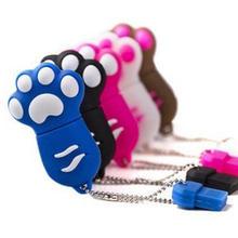 Cartoon Cat Claw Cute USB Flash Drive 32GB 128GB Pendrive 64GB Memory Flash Usb Stick Pen Drive 16GB Pen Driver Brindes Gift