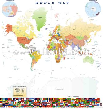 World map with flags square buy plastic world map product on world map with flags square gumiabroncs Choice Image
