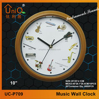 Wooden finishing plastic Bird sound 10 inch Wall Clock