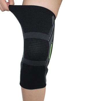 Amazon hot sale nylon and spandex compression knitting knee brace support protector sleeve