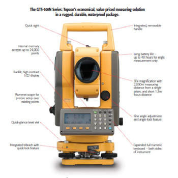 SURVEYING INSTRUMENT USED TOCPON TOTAL STATION RTS 102N