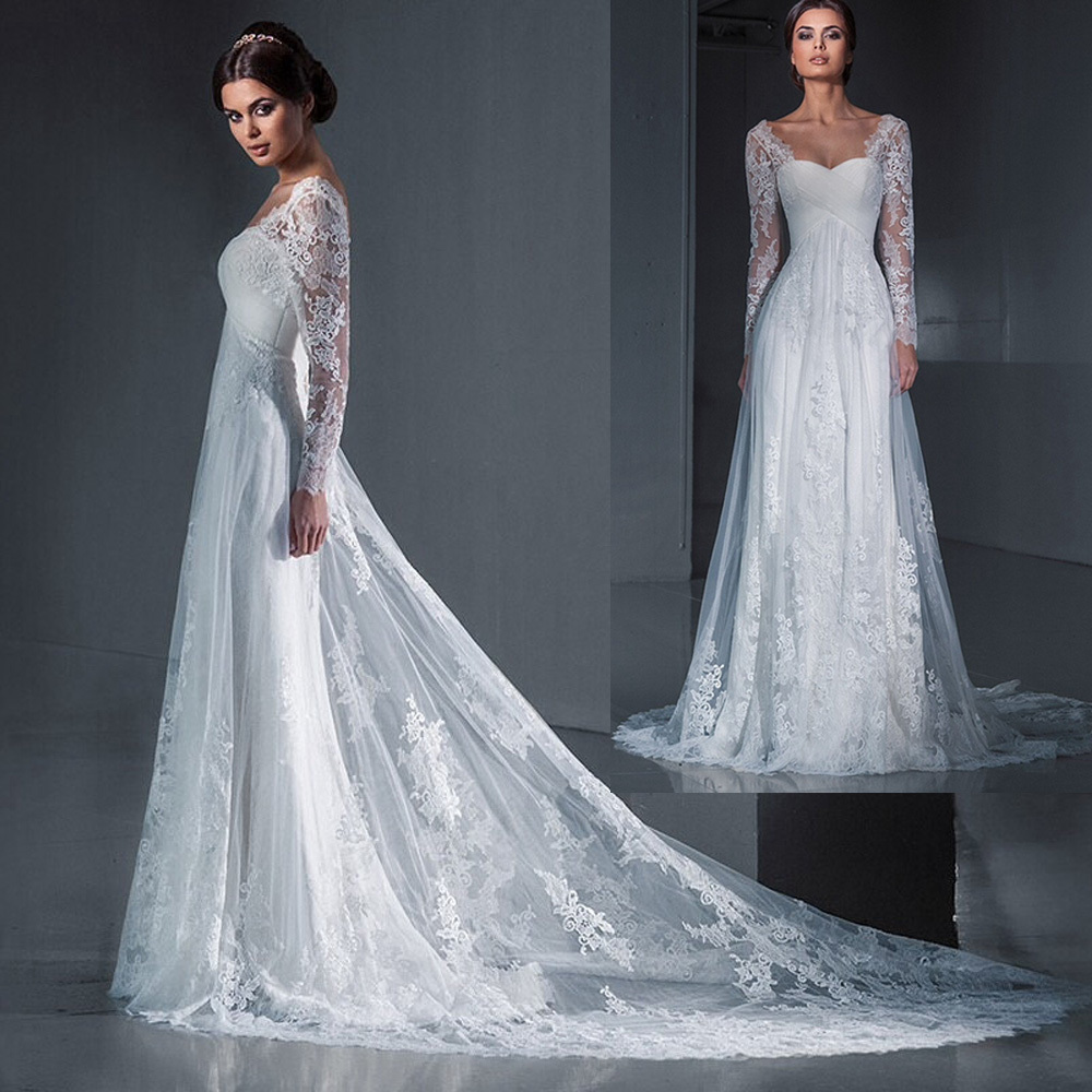 Simple Wedding Dresses With Sleeves: Aliexpress.com : Buy Best Sellers Bridal Gowns Simple Lace