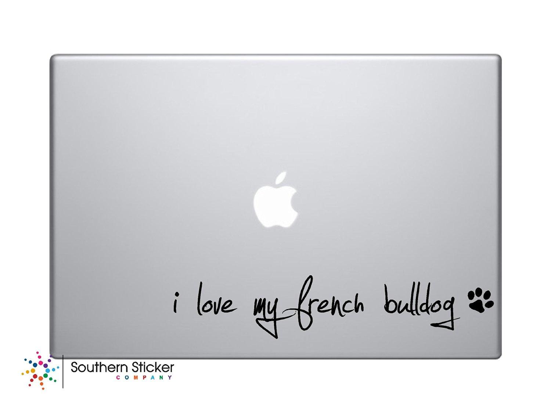 Buy I Love My French Bulldog Text Black Heart Paw Bone Symbol Puppy