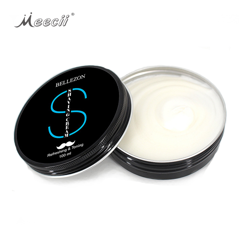ฉลากส่วนตัว 100 มล. Orgainc Men Mustache Beard Foam Shaving Cream