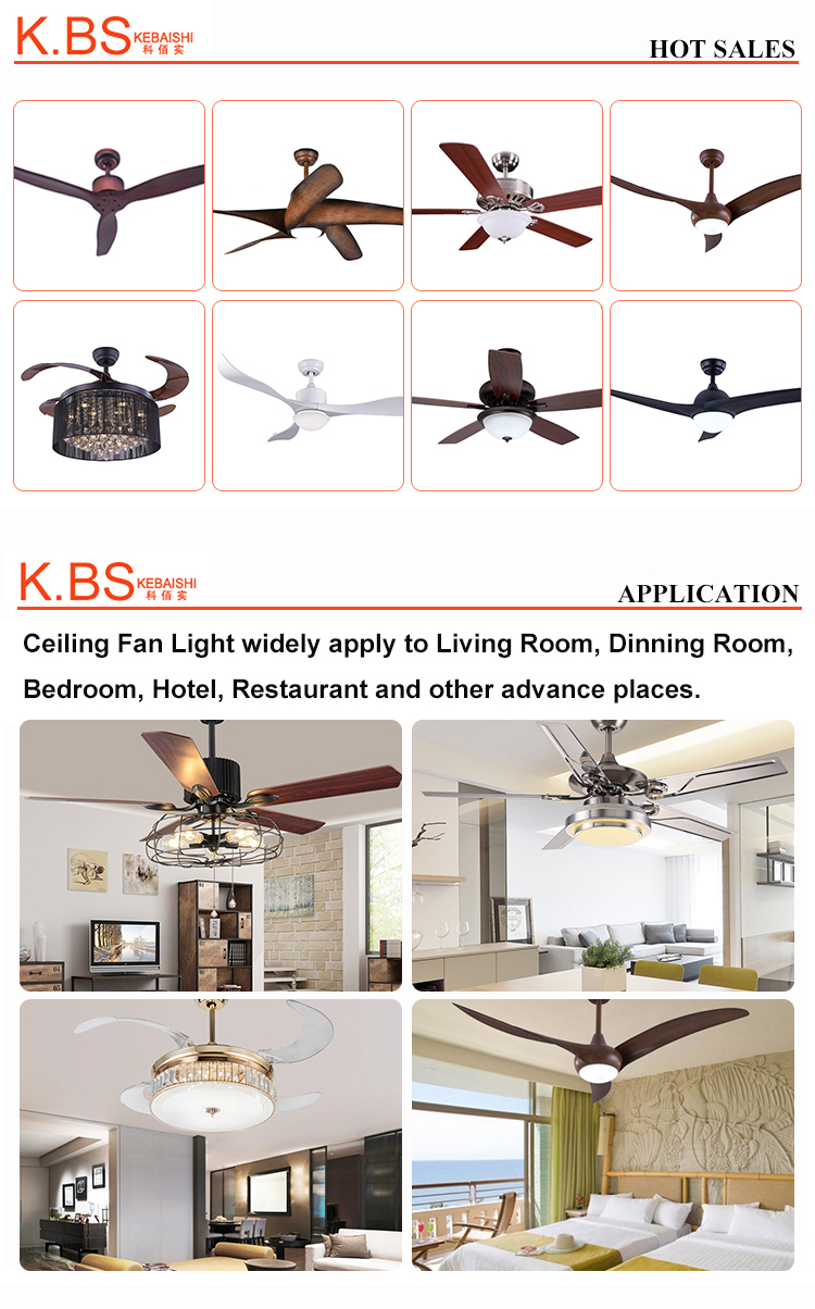New Coming Slient Design Modern Indoor Wood Fan Blade Ceiling Fan With Light