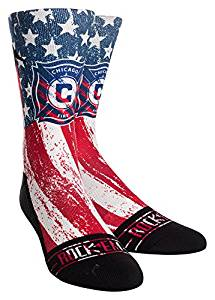 MLS Chicago Fire Custom Athletic Crew Socks, Youth, Club/Country