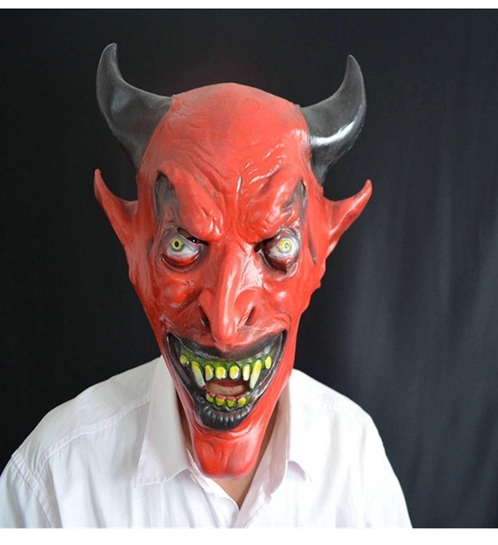 micrkrowen Halloween party cosplay mask Red Bull Demogorgon horror Kamen