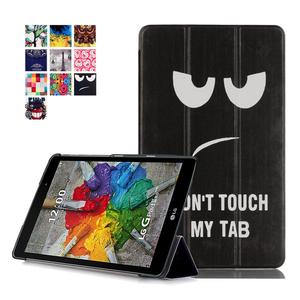 Customized printing leather folio case cover for LG G Pad 3 8.0 V525