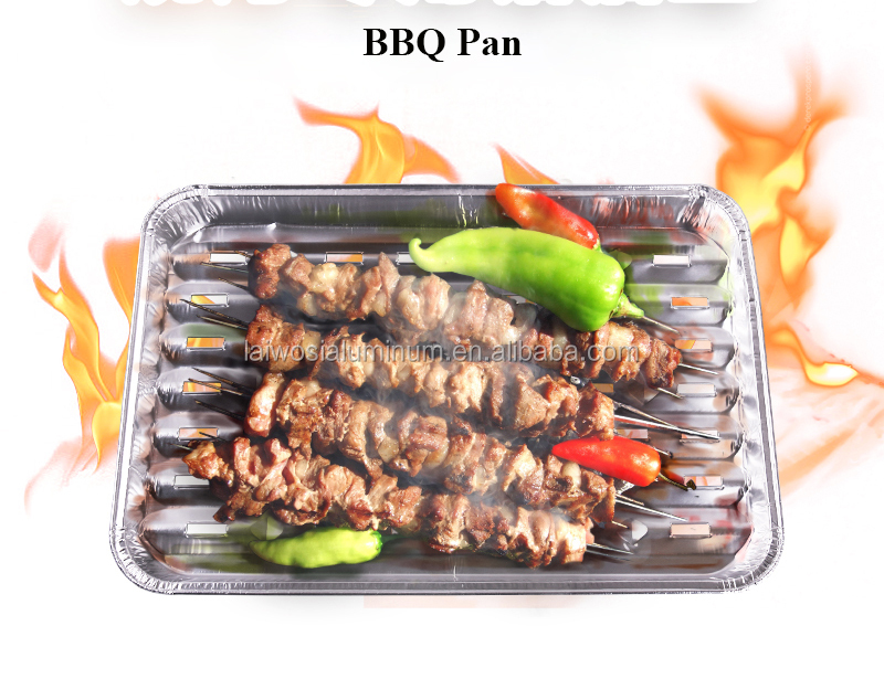 disposable aluminum foil food roasting tray