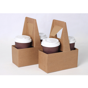 Reusable Strong Coffee Cup Paper Holder Trays Drink Holder