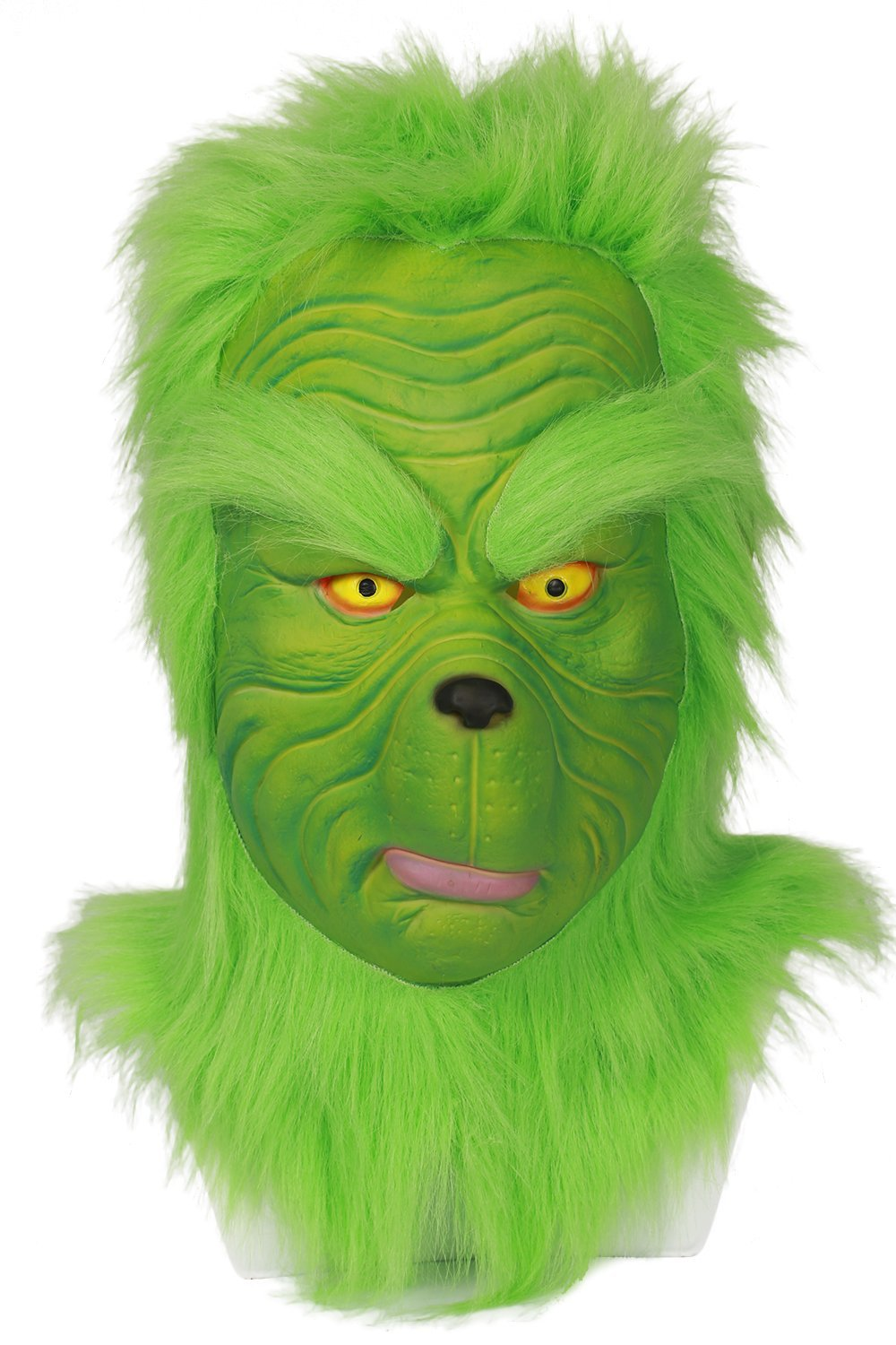 Grinch Cosplay Adult Full Mask For How the Grinch Stole Christmas Xmas Party HOT