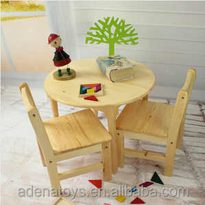 diameter 600mm round table kids writing table / Montessori furniture / solid wood child class table