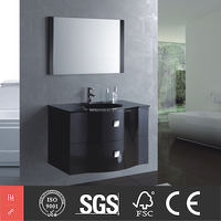 Customized Bathroom Furniture MDF Vanity Combo and Resin Sinks