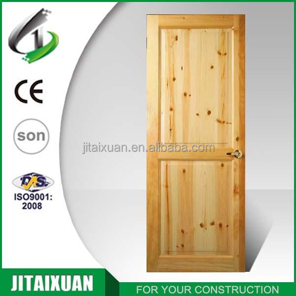 2017 Unfinished Solid Wooden Panel Design Interior Door Made In China
