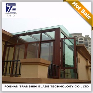10mm building glass tempered laminated glass for roof