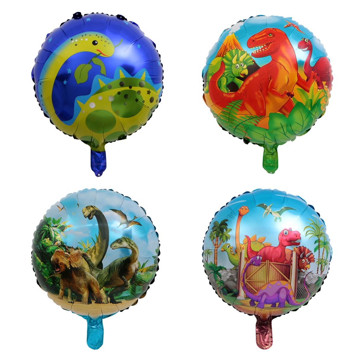 Boys Toy Wedding Party Inflatable Air Balloons Decor Dinosaur Foil Balloons