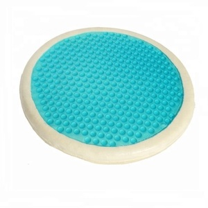 Memory foam round seat cushion with gel layer