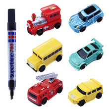 Plastic induction magic pen toy line control follower toy inductive car toys for kids