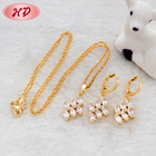 Wholesale 2015 New fashion design 18K gold plated cheap jewelry Enamel Jewelry Sets for womens