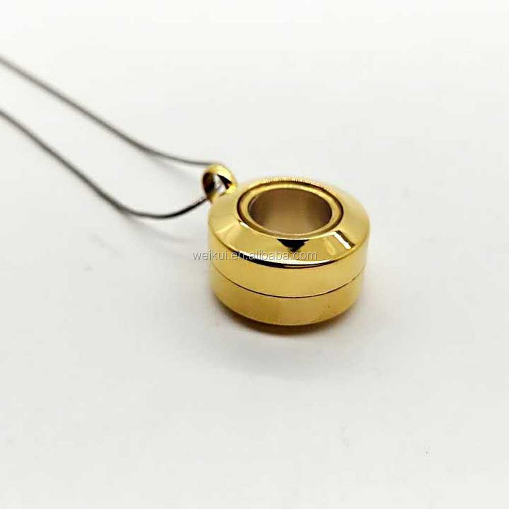 Oro cristal redondo de acero inoxidable marco fase foto ceniza ...