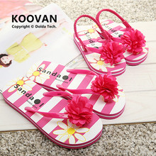 2015 New Mother Daughter Flip flops Slippers Women s Kids Flower Sandals summer Style girls slippers