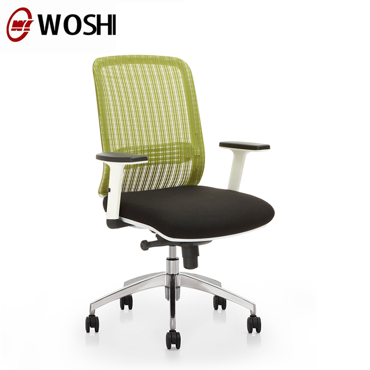 High end adjustable lumbar support function staff office chair swivel computer desk chair