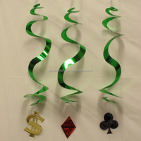 Casino Party Hanging Decorations Poker Swirls Decorations