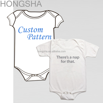 Baby Jumpsuit Custom Print Plain Organic Cotton Onesie Hsj1388