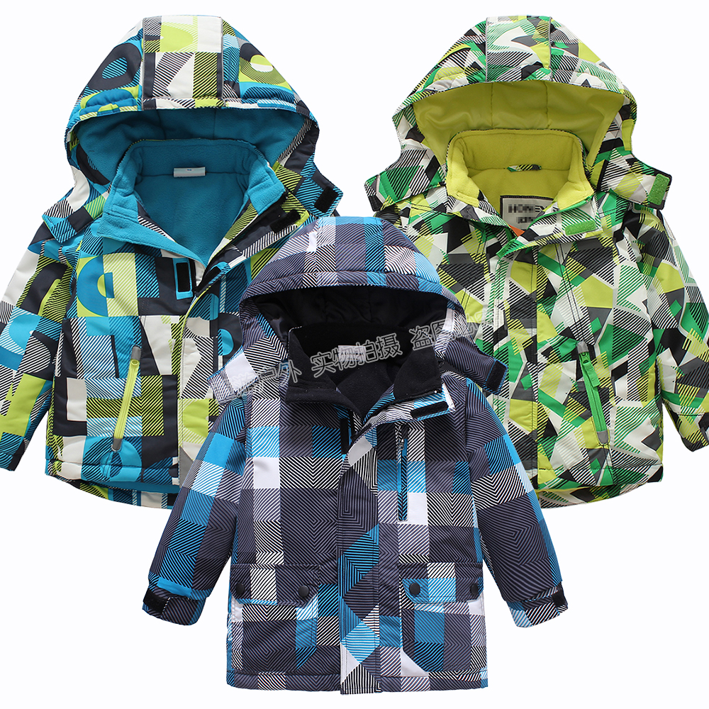 Baby boys waterproof winderproof jackets kids autumn winter outdoor clothes children fleece outwear snowsuit infant costume