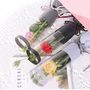 Attractive style custom design flowers plastic wrapping gift sleeves