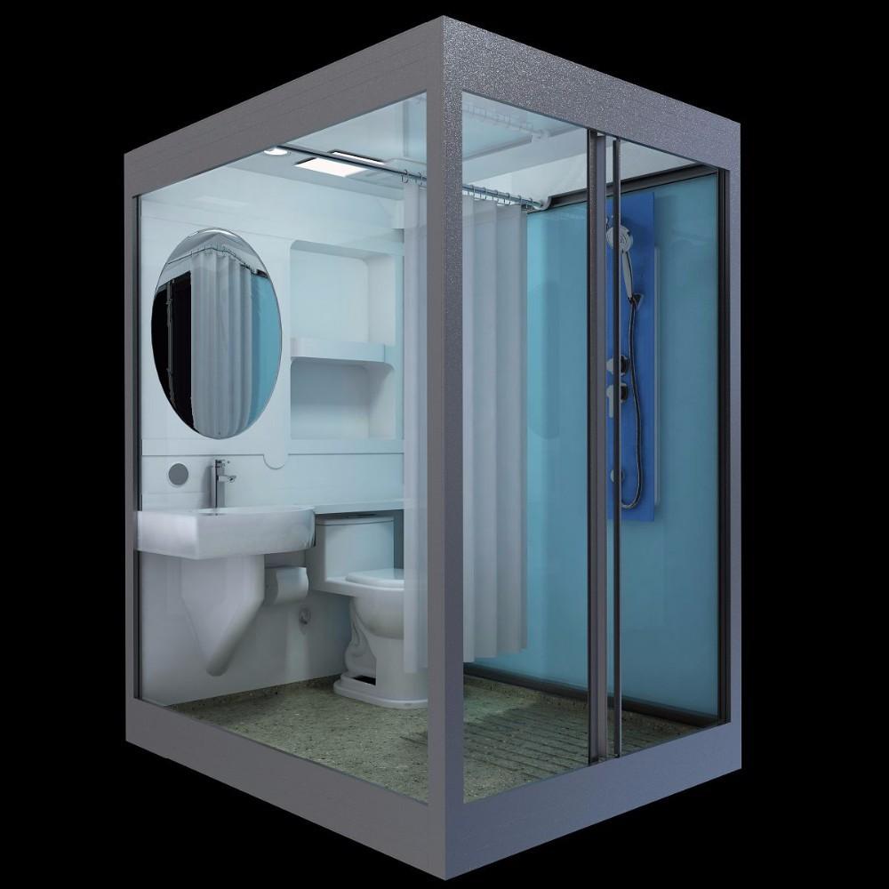 sunzoom new arrival prefab bathroom pods prefab toilet bathroom modular shower cabin buy. Black Bedroom Furniture Sets. Home Design Ideas