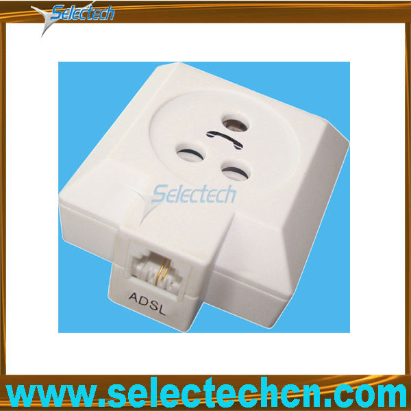 US Jack To Sweden Plug ADSL Splitter